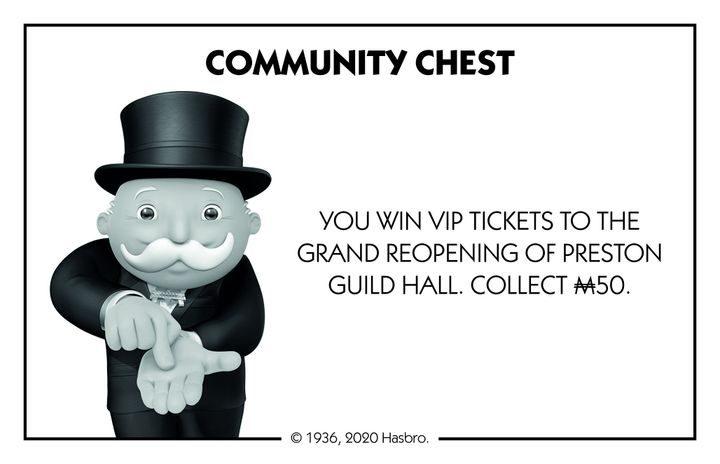 Community Chest for Preston Monopoly