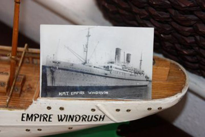 Old photo of Empire Windrush