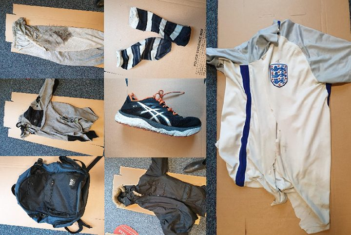 The items the man was found wearing