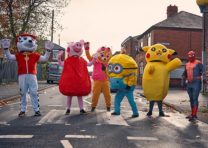 The characters had fun along the way Pic: Mark McLoughlin