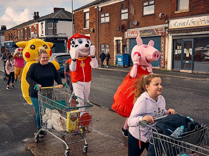 Ribbleton trolley dash Pic: Mark McLoughlin