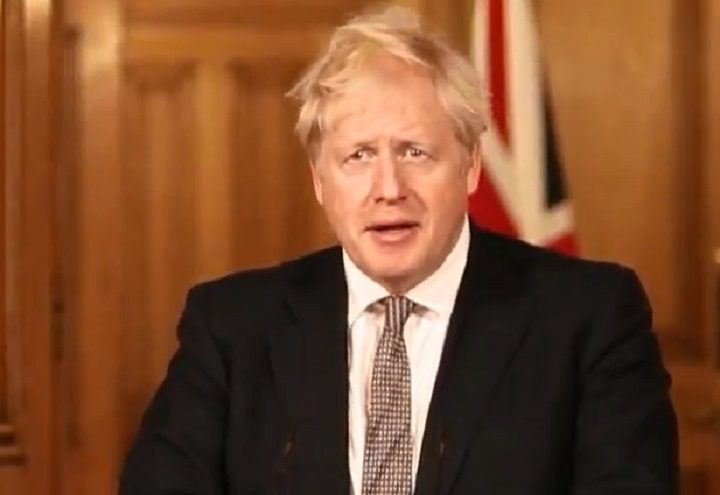 Boris Johnson addressing the nation during the press conference on Saturday 31 October Pic: UK government YouTube