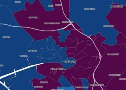 The Covid cases map of Preston is featuring more and more purple - high case areas Pic: Public Health England