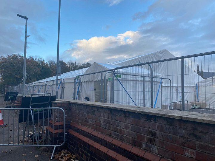 The coronavirus testing centre close to UCLan's Preston campus Pic: Blog Preston