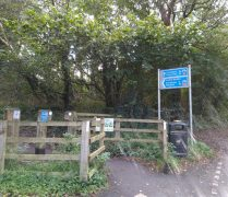 A Guild Wheel distance sign on the route Pic: Blog Preston