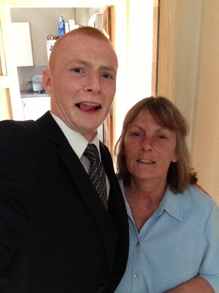 John Rose and his mum. Pic: John Rose
