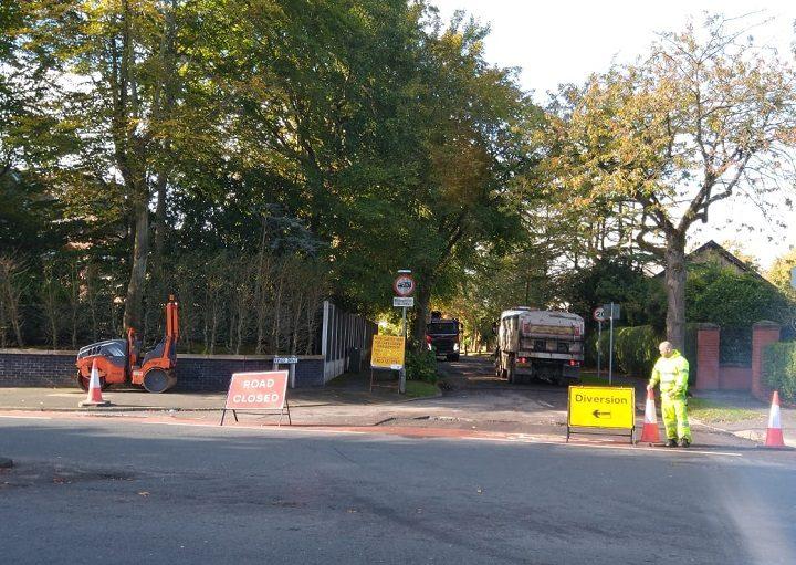 Kings Drive closed for resurfacing during Monday (5 October) Pic: Blog Preston