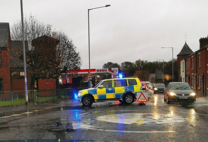 Police vehicle in Leyland Road during Thursday afternoon Pic: Chris Hough