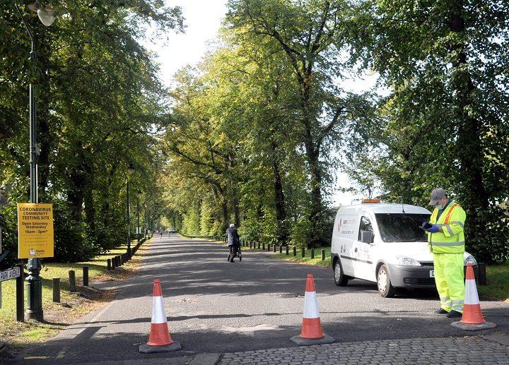 Preston's Covid-19 test centre at Moor Park Pic: Donna Clifford