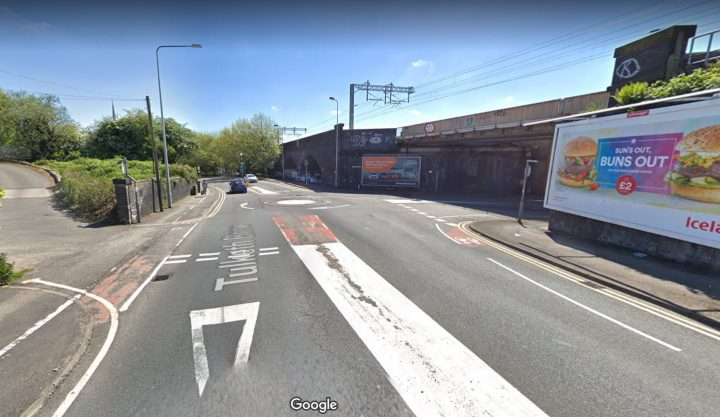 A crash between a lorry and car caused traffic on Tulketh Brow this morning Pic: Google