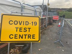The entrance to the Vernon Street coronavirus testing centre Pic: Blog Preston