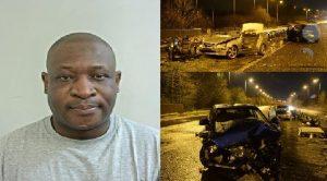 Moses Khombe, jailed drunk driver. Pic: Lancashire police