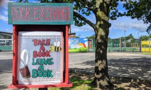 A book exchange at a primary school in Preston Pic: Tony Worrall