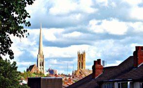 Spires on the skyline of Preston Pic: Tony Worrall