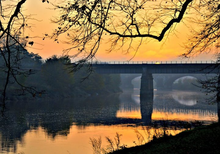 Sunset on the River Ribble at Preston Pic: Tony Worrall