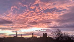 Dawn breaking over Preston on Thursday 18 November Pic: Tony Worrall