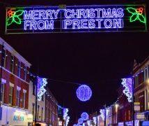 Preston's Christmas lights Pic: Tony Worrall