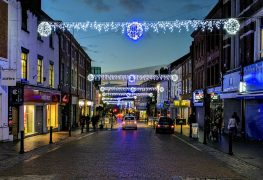 The Christmas lights in Friargate Pic: Tony Worrall
