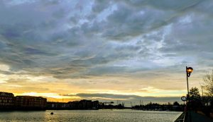 Sunset over Preston Docks Pic: Tony Worrall