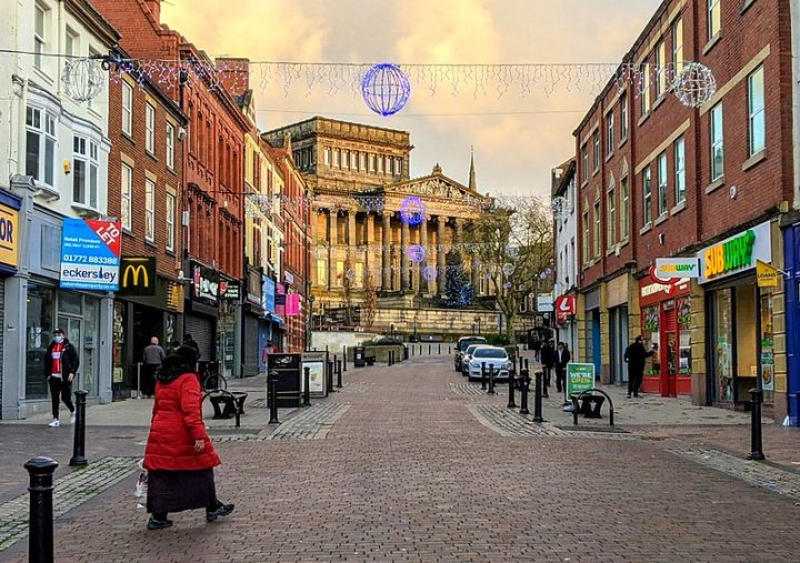 Looking up Friargate in Preston city centre Pic: Tony Worrall