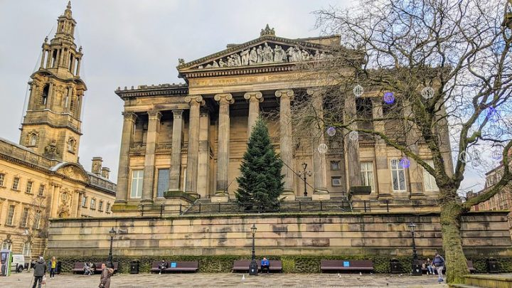 The Harris Museum looking festive in Preston city centre Pic: Tony Worrall