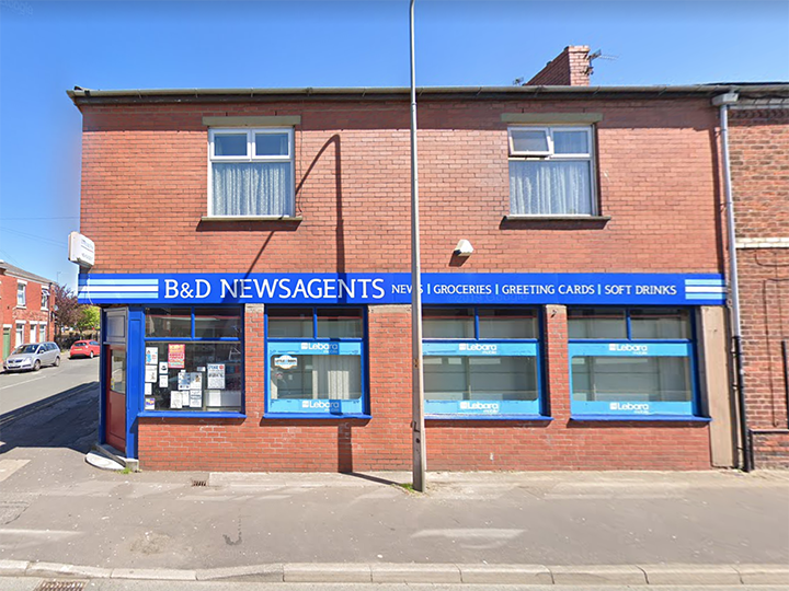 Former B&D Newsagents premises