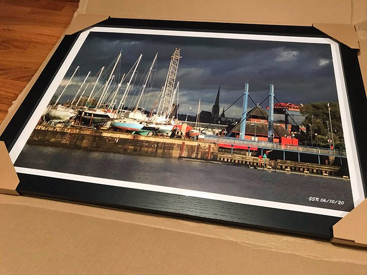 Framed photo of the Docks Pic: DocksideGlyn