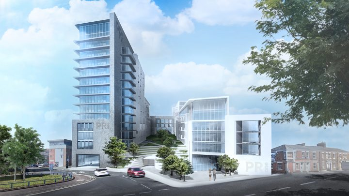 Plans for PR1 major apartment development. Pic: Pillars