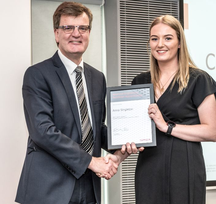 Anna Singleton has been named one of the regions top apprentices