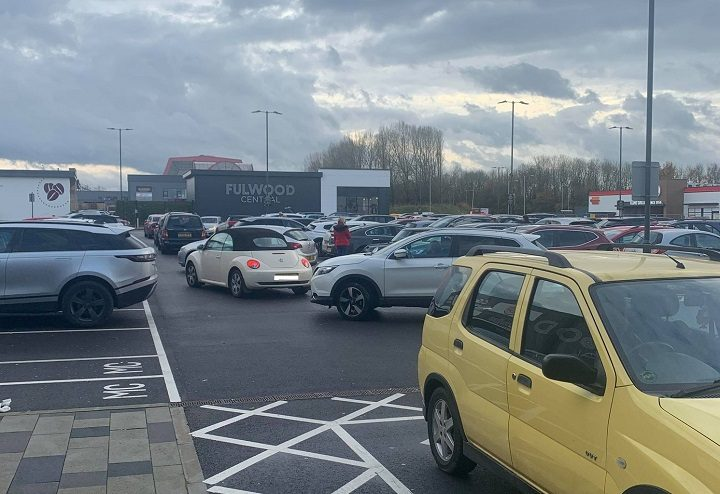 A busy car park at Fulwood Central on Saturday (14 November) Pic: Mary Elspeth/Blog Preston
