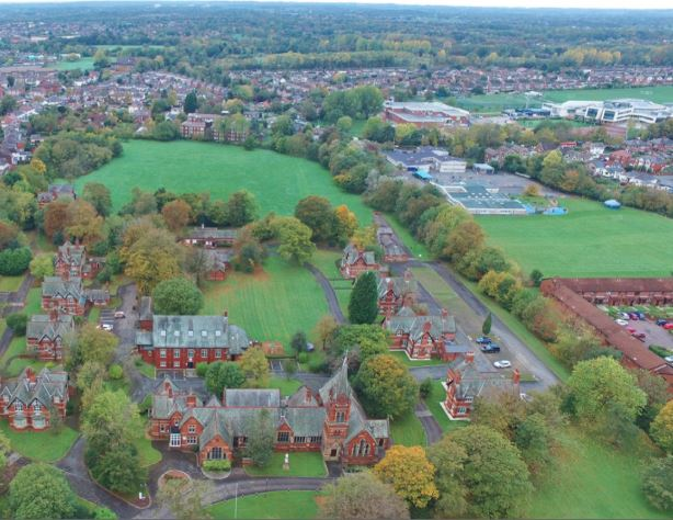 Aerial view of the Harris Park site Pic: C+W/Save Britain's Heritage