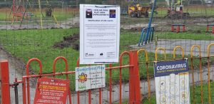Haslam Park play area fenced off for work Pic: Shakeel Ahmed