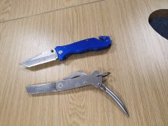 Knives found by police during their searches Pic: Preston Police