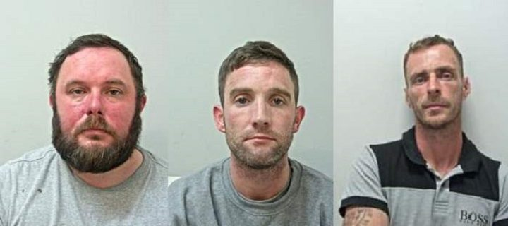 Paul Harrison, Michael Dempsey and Jason Corless are wanted by police Pic: Lancashire Police