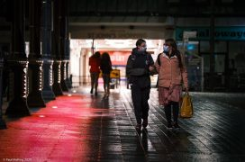 Walking through Preston city centre with face masks on Pic: Paul Melling