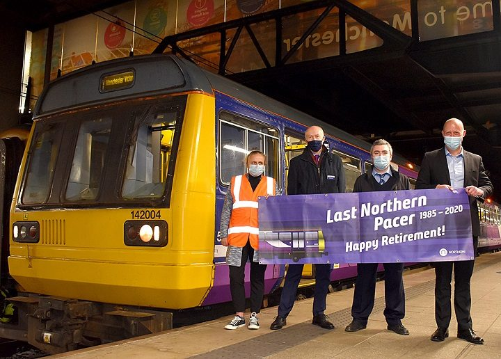 Marking the final journey of the Pacer train Pic: Northern
