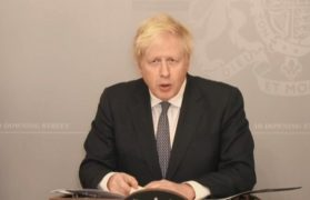 The Prime Minister addressed the House of Commons on Monday, virtually, as he is still self-isolating Pic: Parliament TV