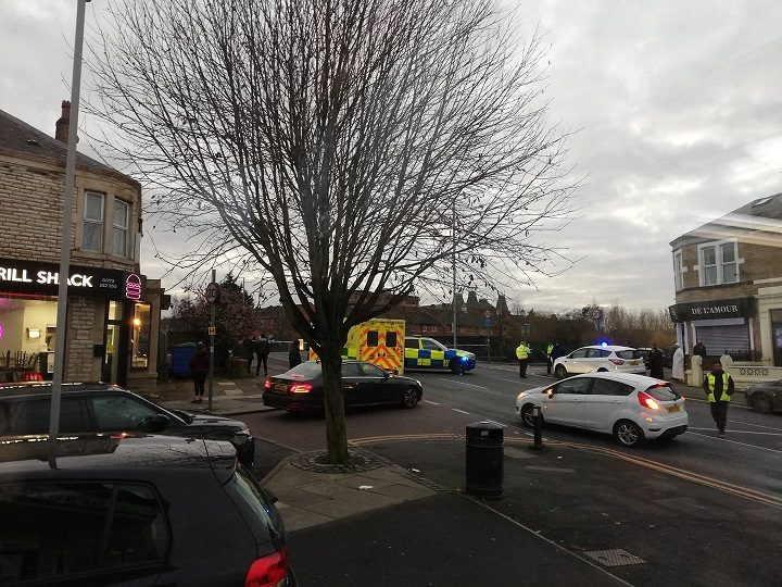 Emergency services in Deepdale Road during Friday afternoon Pic: Pete Burns