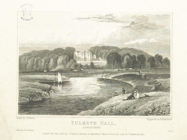Tulketh Hall as drawn in 1825