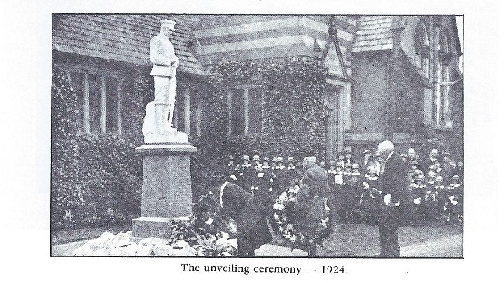 The Fulwood war memorial being unveiled