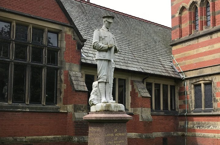 The Fulwood war memorial is within the grounds of Harris Park