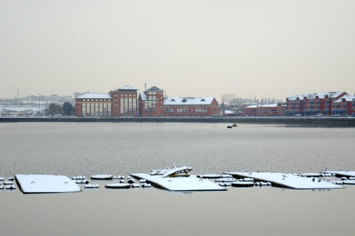 A snowy and cold Preston Docks, will it see a sprinkling of festive snow? Pic: Tony Worrall