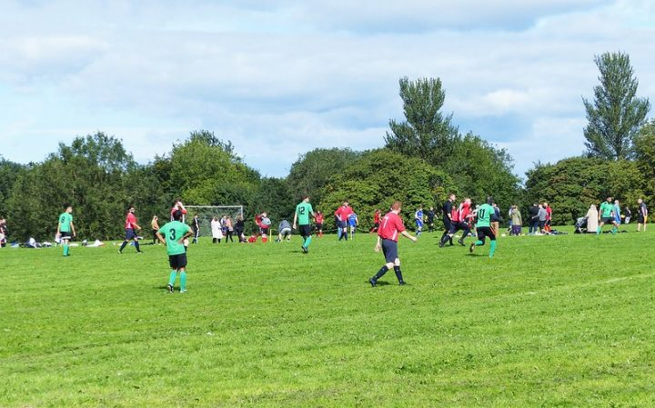 An amateur football game in Preston Pic: Jim Beattie