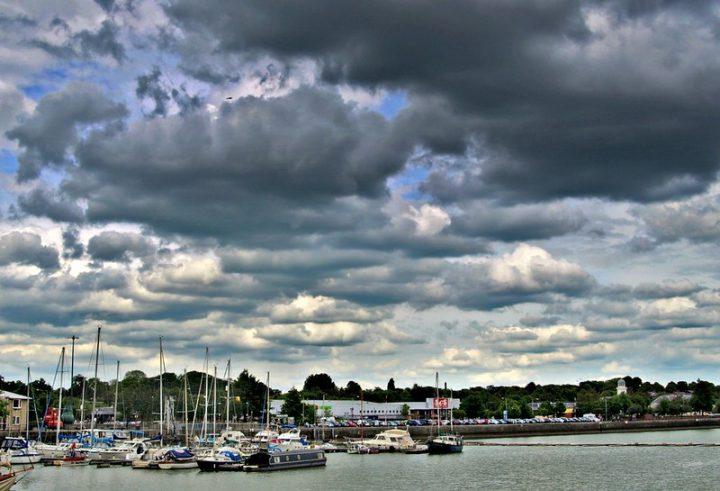 Storm clouds over Preston Docks Pic: Tony Worrall