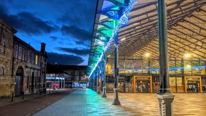 Preston Markets lit up for Christmas Pic: Tony Worrall