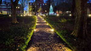A Christmas scene in Winckley Square Pic: Tony Worrall