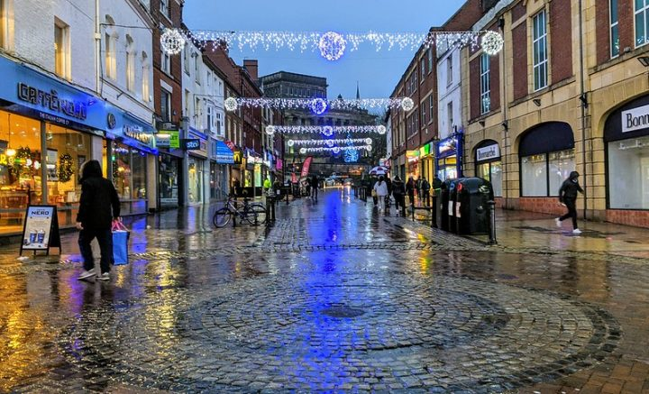 A damp looking Friargate in Preston city centre Pic: Tony Worrall