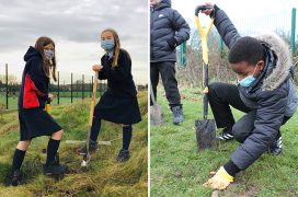 ATS Pupils planting trees Pic: Archbishop Temple School