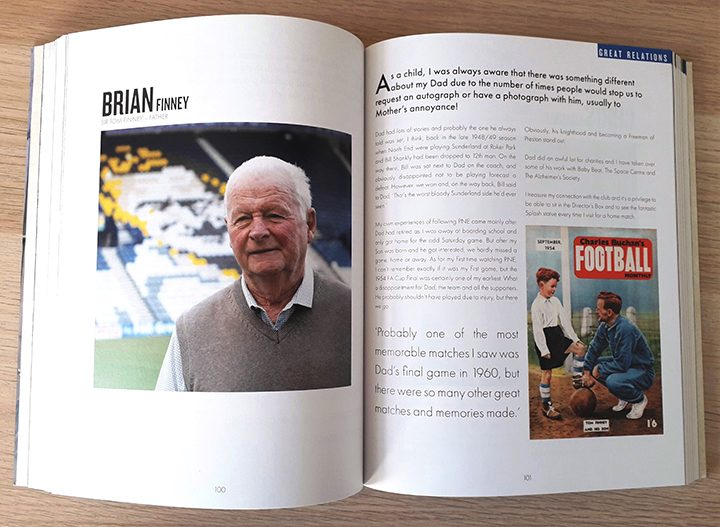 Sir Tom's son Brian Finney appears in PNE Forever Pic: Michael Barrett