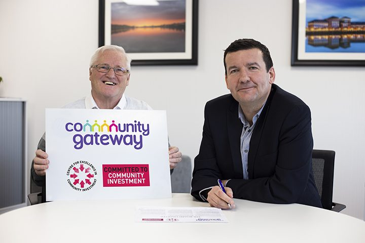 Rob Wakefield (CEO) and Dave Yates (Tenant Chair) sign the Community Investment Charter 2019 Pic: CGA